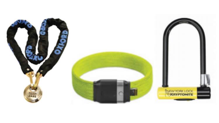 Different bike lock examples