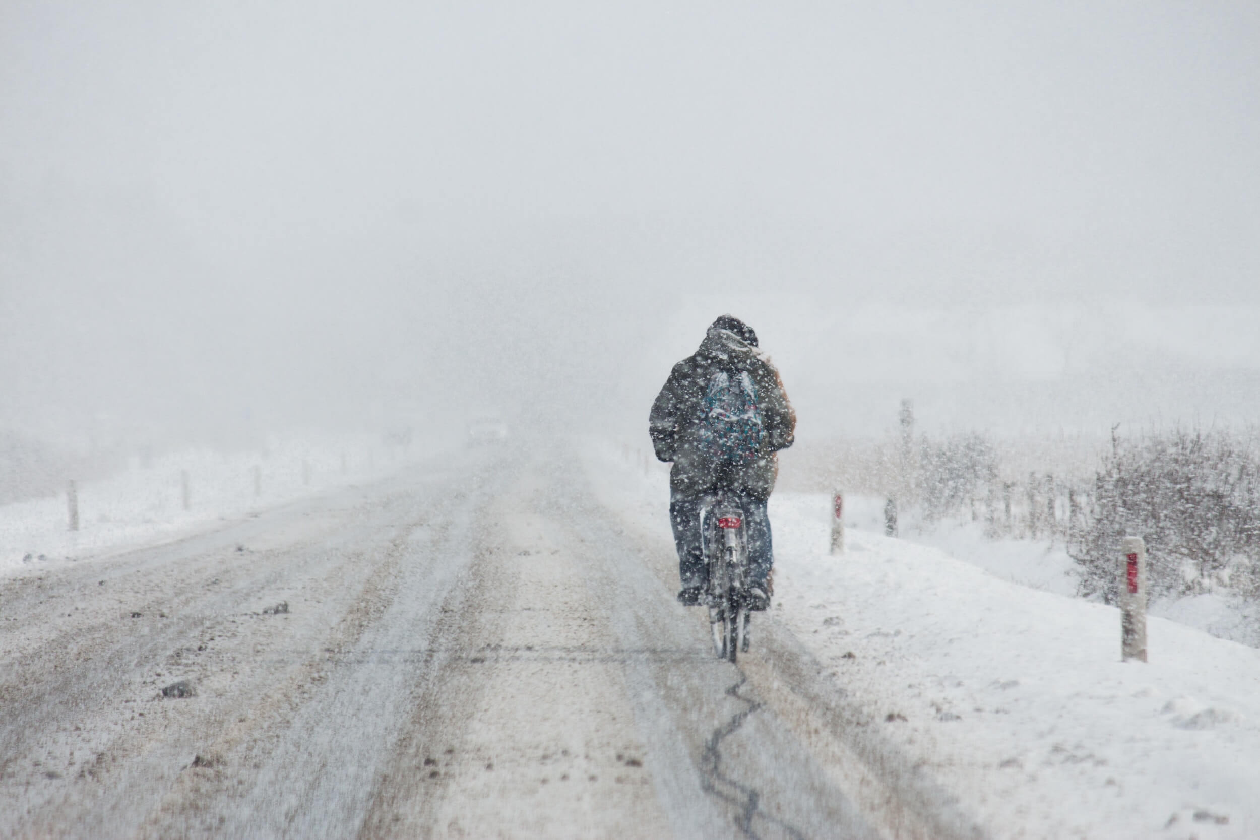 Fahrradversicherung im Winter