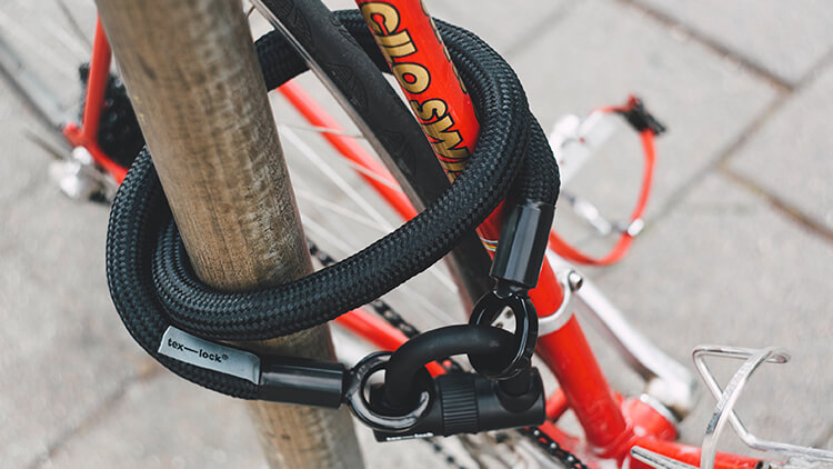 Cable bike lock example