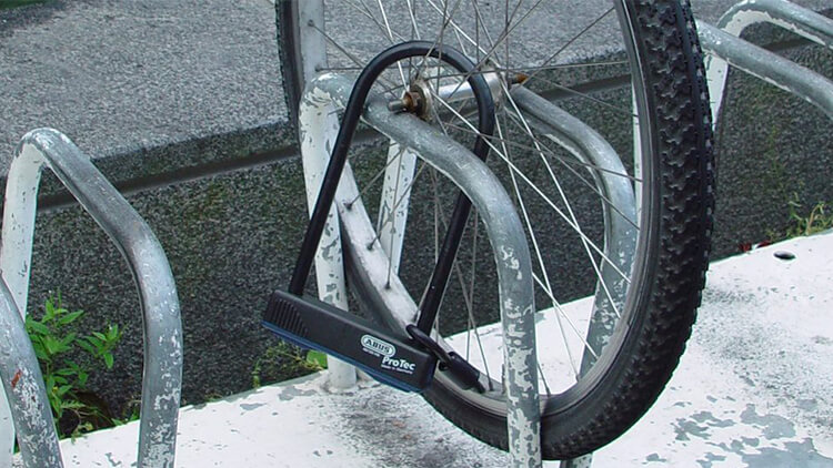 bike lock attached to wheel only