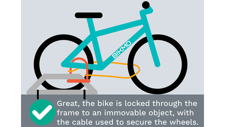 How to lock bike up correctly