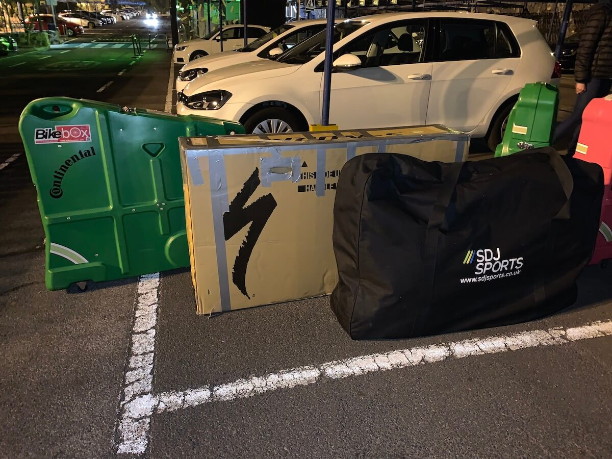 Different bike box types for transporting and travelling with bicycles to a cycling training camp