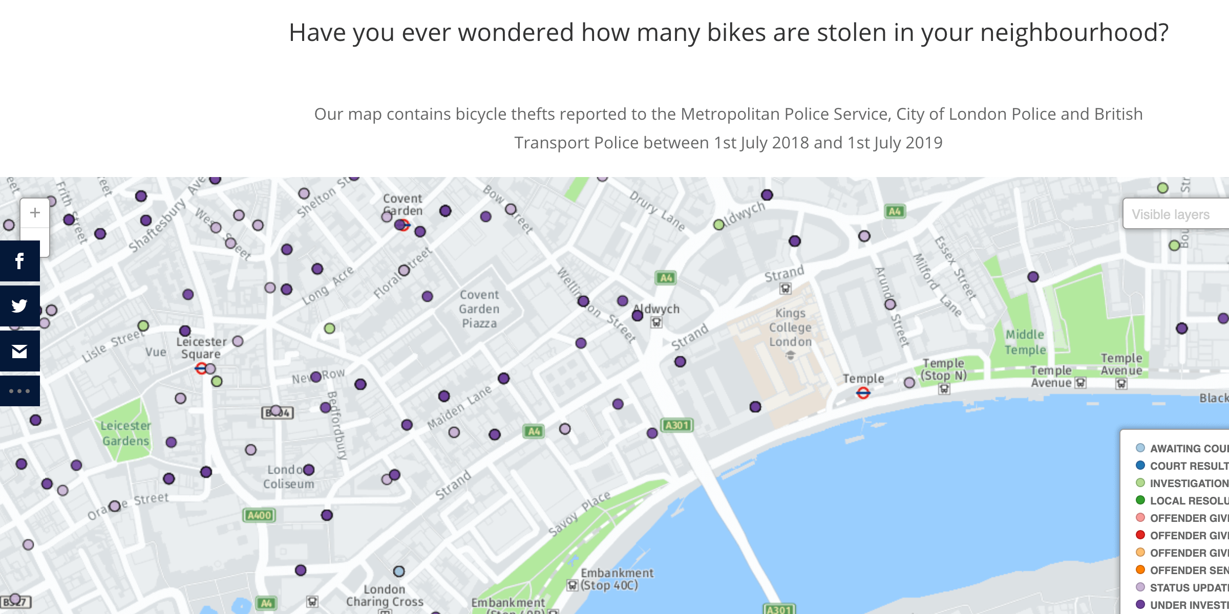 map of london stolen ride