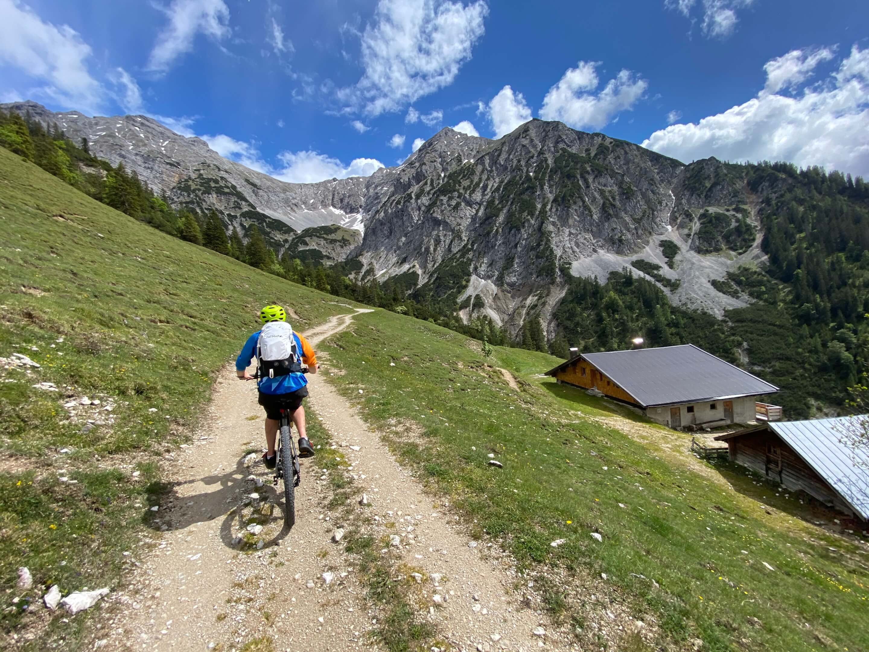 Dave on mountain bike ride in the alps