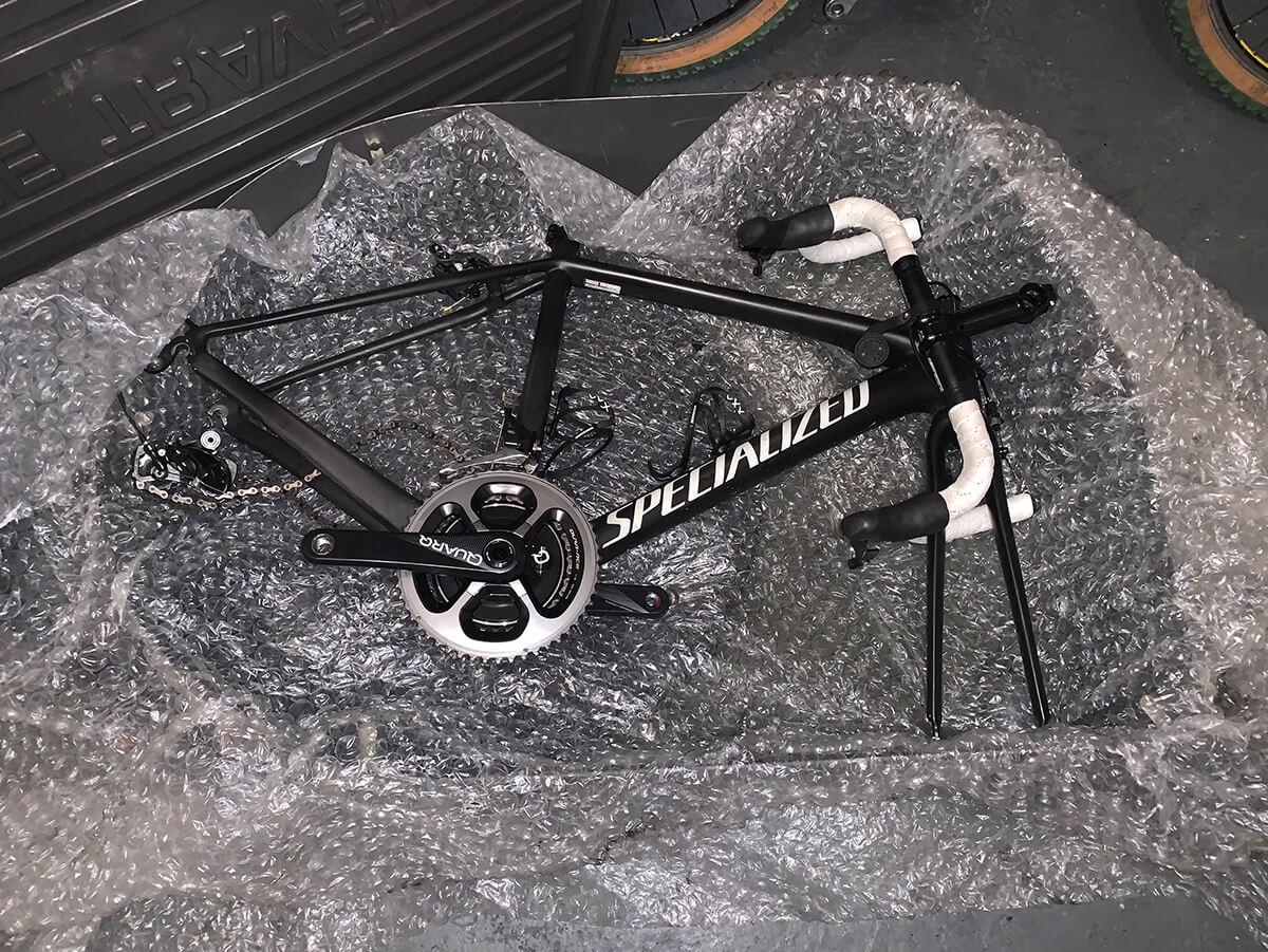 packing a bike in a bike box